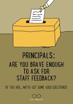 Your staff is one of the most valuable sources of information you have about how effectively you're doing your job. But are you asking? | Cult of Pedagogy Survey Form, Cult Of Pedagogy, Faculty And Staff, Career Advice, Professional Development, Brave, Teacher, Career Counseling, Professor