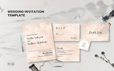 Nydia Salazar Wedding Set - Invitaion Wedding Invitation Templates, Wedding Invitations, Photoshop Software, Corporate Identity, Print Templates, Wedding Sets, Favor Tags, Thank You Cards, Rsvp