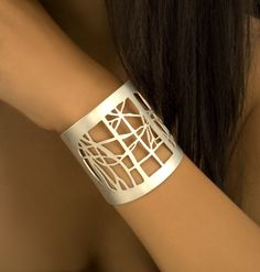 Triptych Cuff: Christy Klug: Silver Cuff - The Artful Home