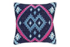 One Kings Lane - Affordable Accents - Kilim Cotton-Blended Pillow, Multi Blue Pillows, Toss Pillows, Kilim Pillows, Accent Pillows, Cowboy Chic, Decorative Pillows, Decorative Accents, Accent Decor, Home Accessories