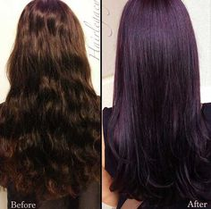 25+ Dark Purple Hair Color - Long Hairstyles 2015