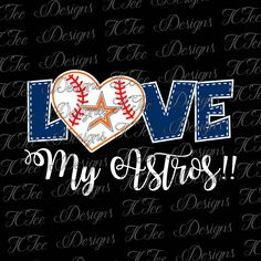 Love My Astros - Houston Astros Baseball - SVG Design Download - Vector Cut File by TCTeeDesigns on Etsy
