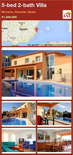5-bed 2-bath Villa in Moraira, Alicante, Spain ►€1,200,000 #PropertyForSaleInSpain