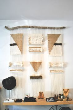 woven wall hanging in an LA boutique