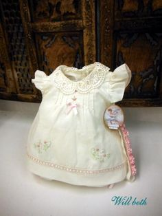HAND~EMBROIDERED NEWBORN SMOCKED BLUE DIAPER SET W//FRENCH LACE~NWT~reborn doll