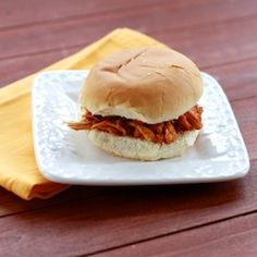 spicy buffalo chicken sandwiches (let the crockpot do the work!)