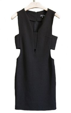 In the Limelight Cutout Dress - Black