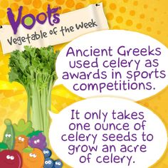 Fun facts about #celery, the Voots® Vegetable of the Week