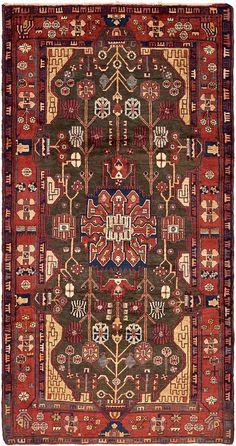 Black 4' 11 x 9' 7 Nahavand Persian Rug | Persian Rugs