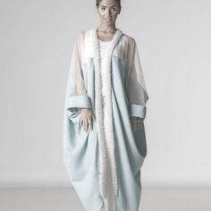 This is beautiful for a modest stylish look @mishaelrajhi #abayeh#modest#babybluestylish#modestfasgion