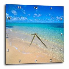 3dRose dpp_89643_3 Lanikai Beach Oahu Hawaii  US12 DPB0783  Douglas Peebles  Wall Clock 15 by 15Inch -- Check out this great product.