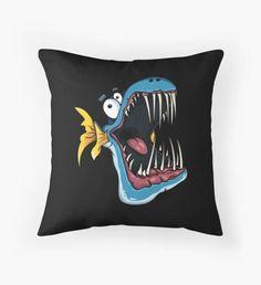 'Fish' Throw Pillow by Designer Throw Pillows, Pillow Design, Sell Your Art, Vibrant, Cushions, Prints, Throw Pillows, Toss Pillows