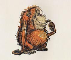 The Jungle Book: Original Concept Art Collection Cartoon Kunst, Cartoon Drawings, Cartoon Art, Cute Drawings, Animal Sketches, Animal Drawings, Character Sketches, Character Design, Monkey Art