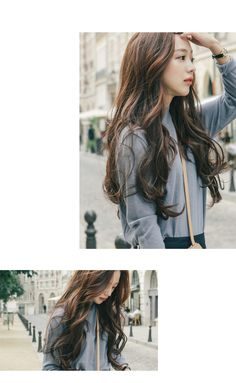 pinkage Set of Hair Extension - Wavy Korean Curls, Korean Wavy Hair, Korean Hairstyle Long, Korean Hairstyles Women, Korean Hair Color, Redhead Hairstyles, Permed Hairstyles, Modern Hairstyles, Straight Hairstyles
