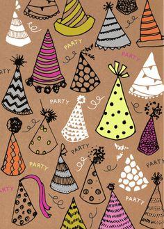 Rebecca Prinn - RP Craft Hats Birthday Greeting Card