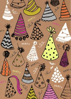 Rebecca Prinn - RP Craft Hats Birthday Greeting Card
