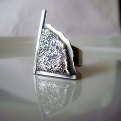 Reticulated Sterling Silver Ring.