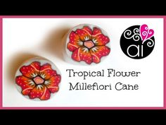 Tropical Flower Cane | Polymer Clay Tutorial | Millefiori Cane | Murrina Fiore Tropicale - YouTube