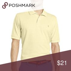 IZOD Solid Oxford Polo Shirt Golden Haze S, M New IZOD Short-Sleeve Solid Oxford Polo Shirt Golden Haze Size S, M New Msrp $40  Look sharp at the office or on the course in the IZOD oxford polo, featuring your choice of soft, sunny-weather colors.  lay-flat collar 2-button placket left chest logo embroidery cotton washable imported Izod Shirts