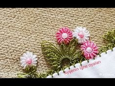 YouTube Yarn Thread, Thread Work, Saree Kuchu Designs, Tatting Tutorial, Point Lace, Needle Lace, Embroidered Flowers, Needlework, Embroidery Designs