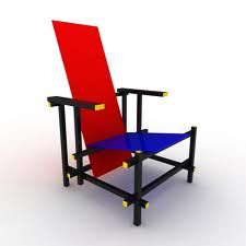 Blue/Red chair ,1918/23 en Weimar de Gerrit