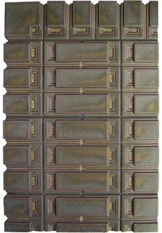 Motawi | Frank Lloyd Wright Series - Storer Triplet in 5202 Granite