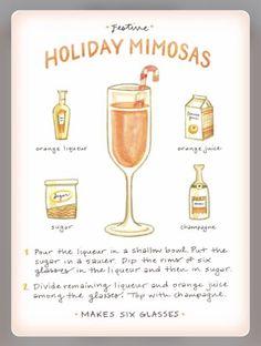 Source: Pinterest |  #wittyvows #recipe #recipeoftheday #recipeideas #mimosa #mimosabar #orangejuice #mocktails #mocktailrecipe #cocktails #cocktailrecipe #diy #howtomake #recipegirl #drinks #bridetobe #potd #trending Refreshing Drinks, Fun Drinks, Yummy Drinks, Alcoholic Drinks, Beverages, Christmas Drinks, Holiday Cocktails, Cocktail Drinks, Thanksgiving Cocktails