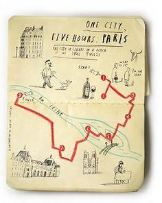 Paris map - Oliver Jeffers