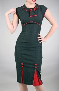 Stop Staring Black and Red Bombshell Dress Pinup Deco Vintage Reproduction 6aeb3e9dad