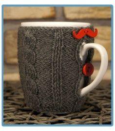 handmade kubek w sweterku ręcznie robiony stefan