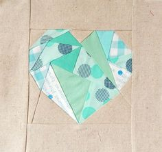 """Heart-Quilt- Block"" trifft Quilt as you go"