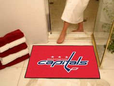 All Star Mat - Washington Capitals. This is a neat idea. We put this in our guest bathroom. If you're a  Caps fan you gotta get one!!!