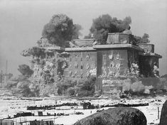 """"""" The demolition of Berlin's Zoo flak tower, known in german as the Flakturm Tiergarten, Zoo Tower. One of the few flak towers successfully destroyed, as the rest, mostly outside of. East Germany, Berlin Germany, Torre Flak, Flak Tower, Berlin Wedding, Battle Towers, History Online, War Photography, Bunker"""