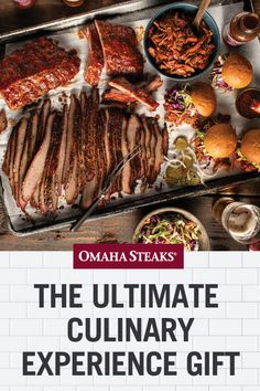 Searching for the perfect gift for a foodie or home chef? Gift them the ultimate culinary experience with premium meats & everything to cook them. Omaha Steaks, Food Gift Baskets, Steak Cuts, Experience Gifts, Home Chef, Sous Vide, Food Gifts, Gourmet Recipes, Smoking