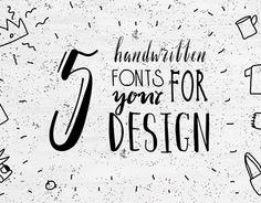 "Check out new work on my @Behance portfolio: ""5 handwritten fonts"" http://be.net/gallery/54015571/5-handwritten-fonts"