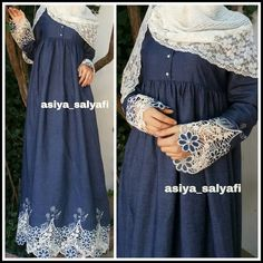 That& ready)) Sewed to order, such a fabric doesn . Hijab Dress Party, Hijab Style Dress, Hijab Chic, Niqab Fashion, Denim Fashion, Fashion Dresses, Islamic Fashion, Muslim Fashion, Kurta Style