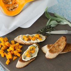 Creamy Swiss Garlic & Herb turns a good side dish into an even better snack. Ingredients: The Laughing Cow Creamy Swiss Garlic & Herb Butternut Squash Crostini Sage