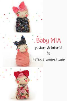 Using this easy PDF sewing tutorial you will easily make your own Swaddle Baby Doll Mia that will not only act as a comforter for your baby girl, but it will bring joy and smiles every day. #PDFSwaddleBaby #DollSewingTutorialandPattern #RagDollPattern #EasySewing #ClothDollPattern #SoftDoll #KawaiiPattern #InstantDownload Doll Sewing Patterns, Sewing Dolls, Sewing Tutorials, Sewing Crafts, Sewing Projects, Tilda Toy, Baby Swaddle, Soft Dolls, Diy Doll