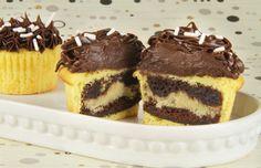 CupBrookie   Betty Crocker  ~ a Cookie inside a Brownie inside a Cupcake!!