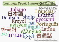Language Freak Summer Challenge [May 1, 2014 - August 31, 2014]