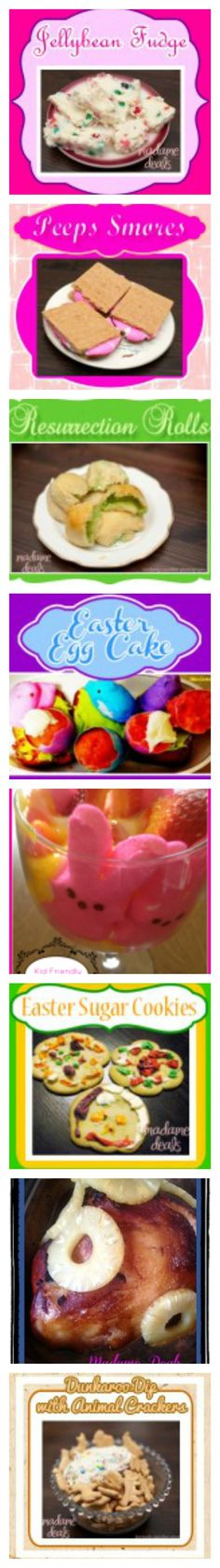 Lots of easy to make #Easter #Recipes -- Ham, Deviled Eggs, Jelly Bean Fudge and more http://madamedeals.com/easter/
