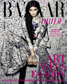 Harper's Bazaar Bride India, May 2015. Athiya Shetty on the Magazine Cover.