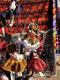 Cute Peruvian dolls...Artesanato peruano
