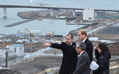 telegraph:  Royal Tour of Japan, Day 4, March 1, 2015-The Duke of Cambridge visits Ishinomaki, Miyagi prefecture, destroyed by the 2011 earthquake and tsunami