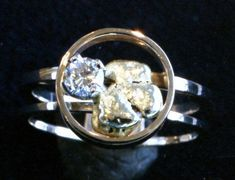 Natural Placer Gold Nugget and Diamond Hand by WatertonJewelry, $1500.00