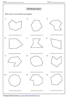 Convex and Concave Shape Worksheets | Identify Concave or Convex Polygon
