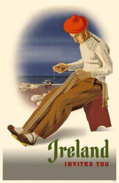 Vintage Irish travel ad
