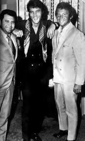 Here's the late record promoter Pete Bennett with Elvis and Bobby Vinton backstage at the International during Elvis' initial run in August 1969. This picture is usually cropped but here is the full version. First published in Billboard.FB/PG