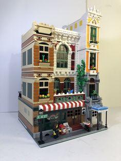 Lego Village, Lego Super Mario, Lego Building Blocks, Lego Modular, Futuristic City, Cool Lego Creations, Lego Projects, Modular Design, Lego Moc