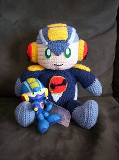 MegaMan.EXE amigurumi with free (crazy long) pattern - CROCHET